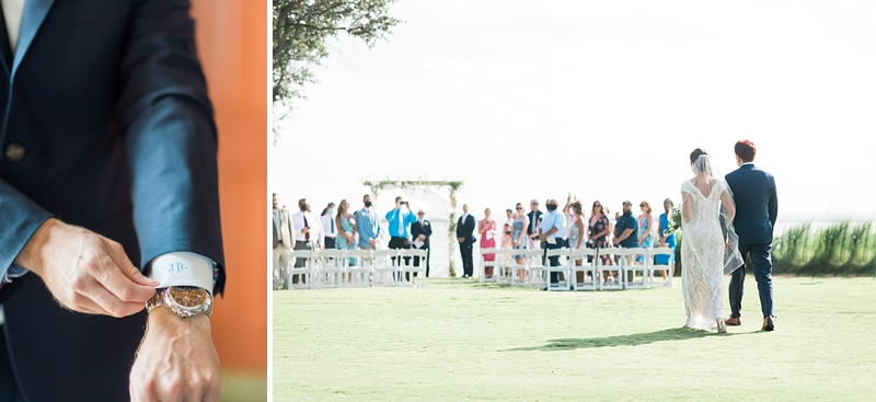 Outdoor waterside wedding at Currituck Club in Outer Banks during COVID for a socially distanced celebration on Virginia wedding blog