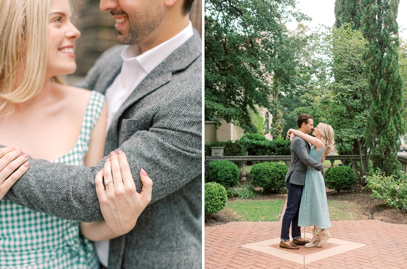 Classic city engagement photos in Richmond Virginia