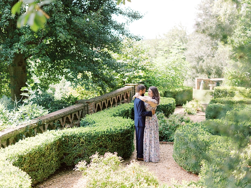 Garden inspired engagement session at The Virginia House in Richmond Virginia
