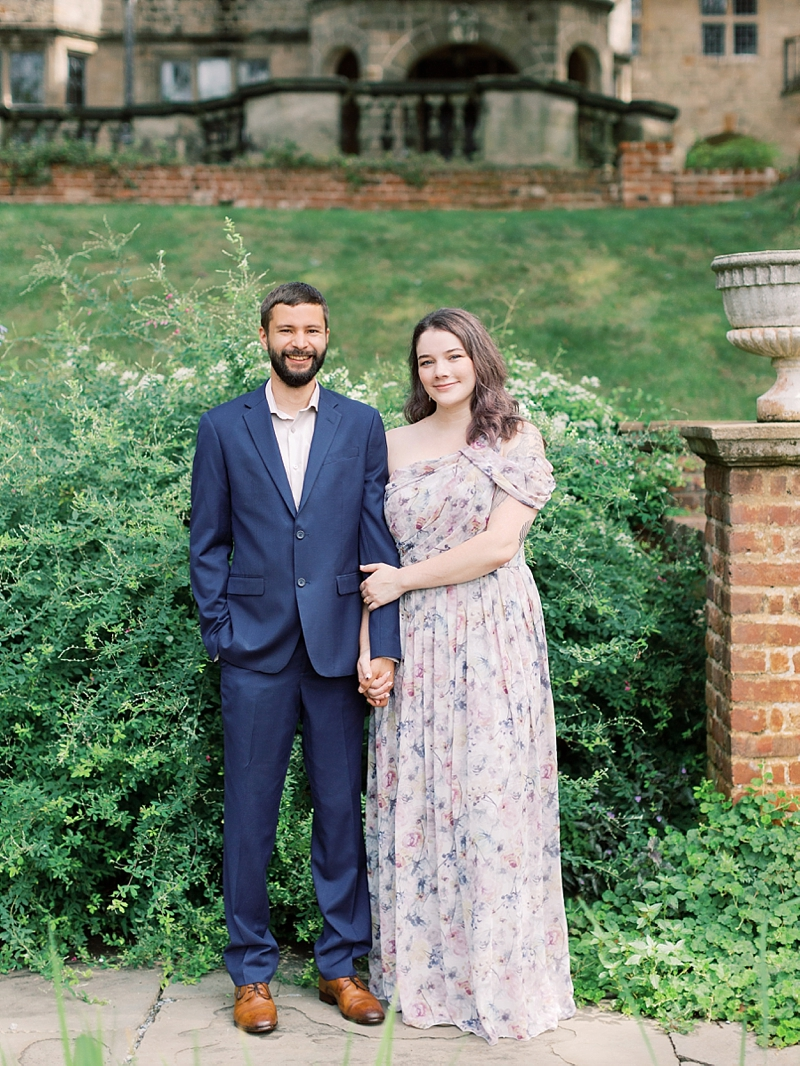 Romantic engagement photos at The Virginia House in Richmond for fine art portraits