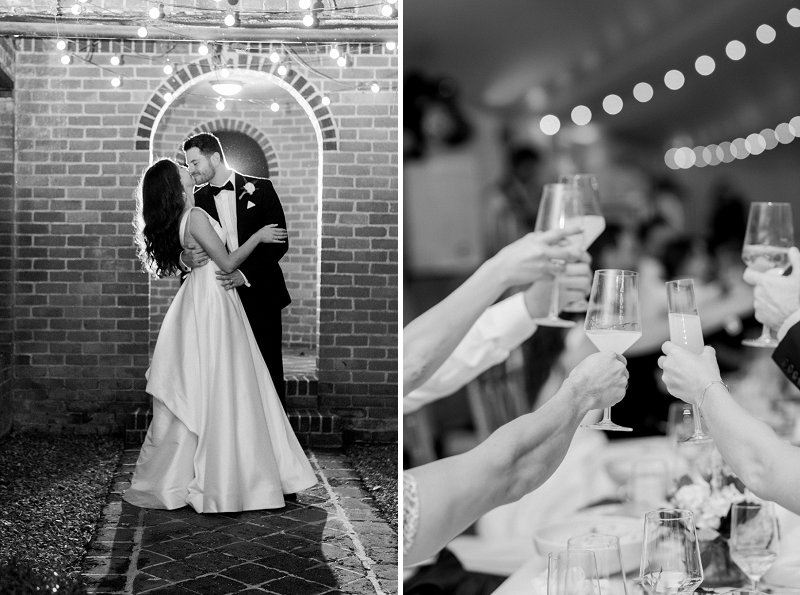 Timeless black and white photography for classic wedding at Historic Mankin Mansion in Richmond Virginia