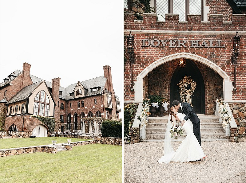 Classic and traditional bride and groom portrait at their Dover Hall wedding in Virginia