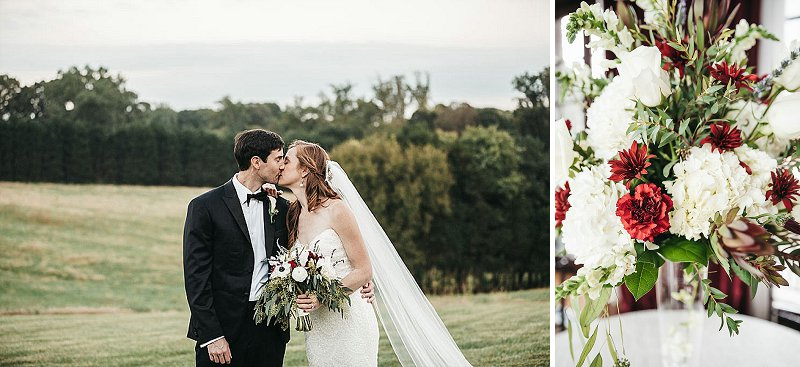 Romantic classic wedding at Dover Hall outside of Richmond Virginia