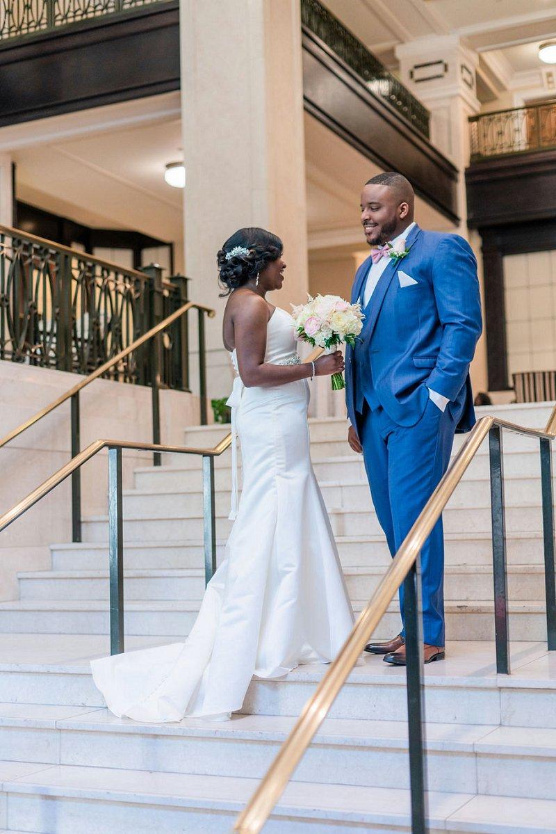Timeless ballroom wedding at the John Marshall Ballrooms in Richmond Virginia