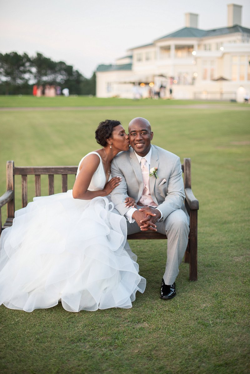 Classic bride and groom at their classic wedding in Richmond Virginia