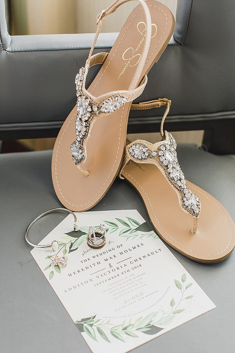 Crystal beaded bridal sandals for chic relaxed wedding style