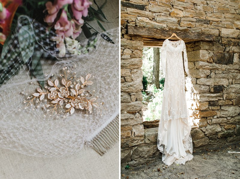 Vintage inspired style bridal detail ideas for fall wedding