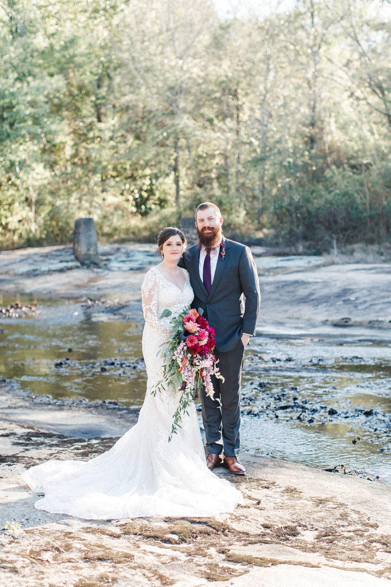 Vintage inspired fall wedding at Mill at Fine Creek in Powhatan Virginia