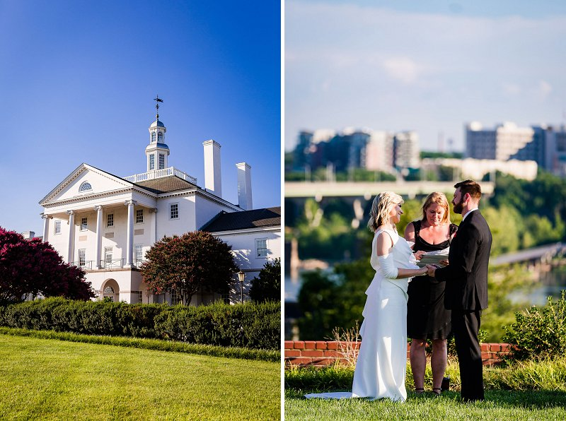 Beautiful outdoor wedding ceremony at Gamble Hills in Richmond Virginia
