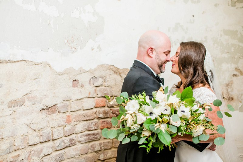 Beautiful New Years Eve wedding in Richmond Virginia with classic gold and white colors