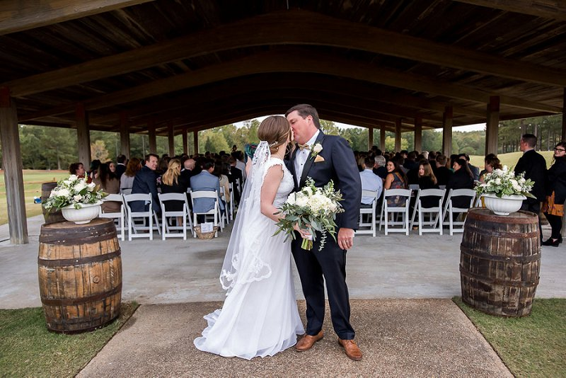 Outdoor wedding ceremony at Independence Golf Club in Richmond Virginia