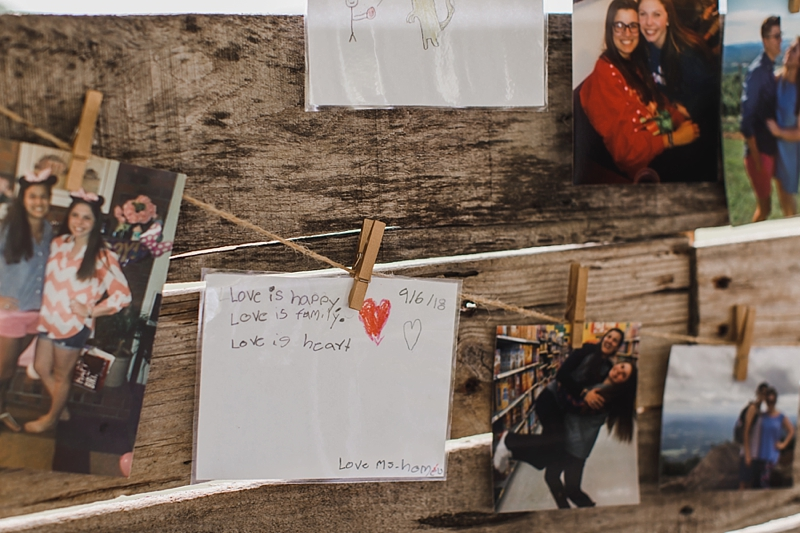 Adorable teacher wedding idea where students write what they think love is