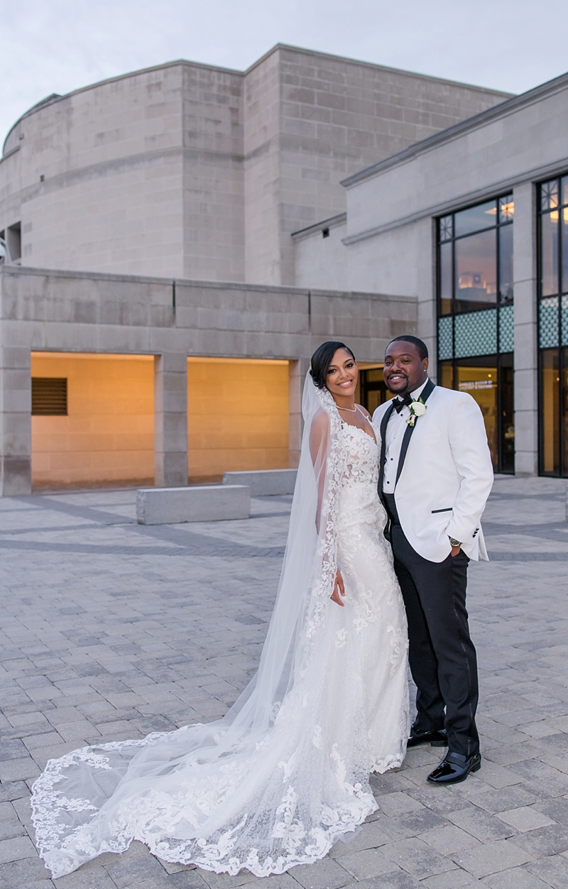 Classic wedding celebrating black love at Virginia Museum of History and Culture in Richmond Virginia