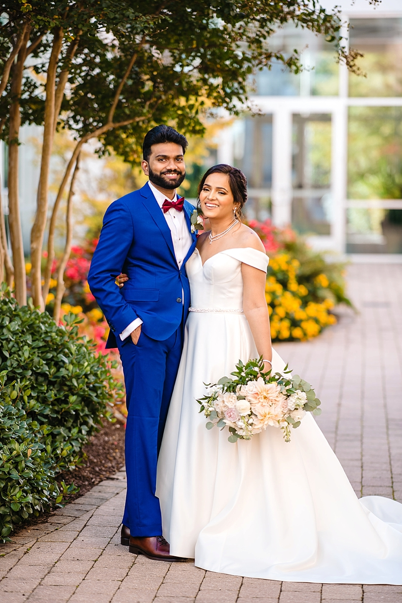 Sweet moment between bride and groom in Richmond Virginia