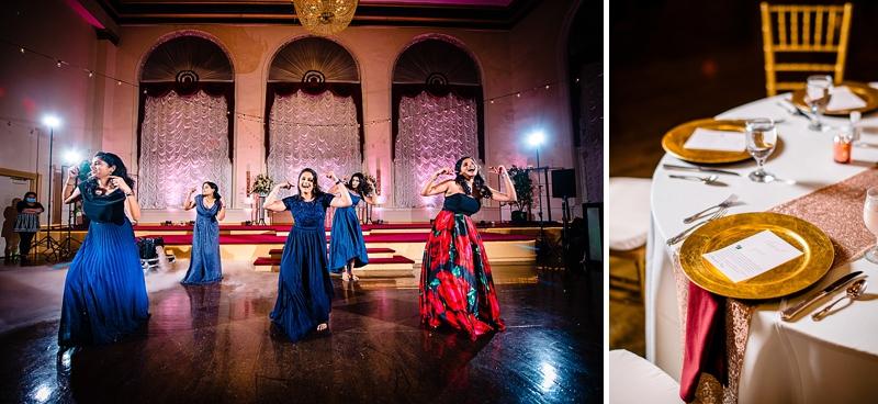 Fun Bollywood dance performance moment at Richmond Virginia wedding