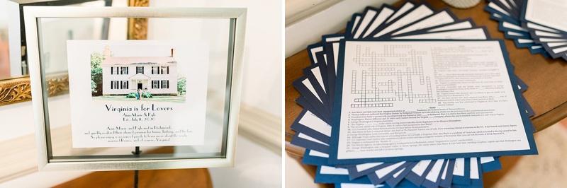 Custom crossword puzzle for cute wedding activity idea