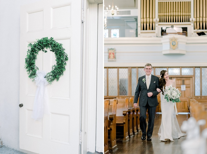 Small COVID wedding ceremony with socially distanced seating in Richmond Virginia