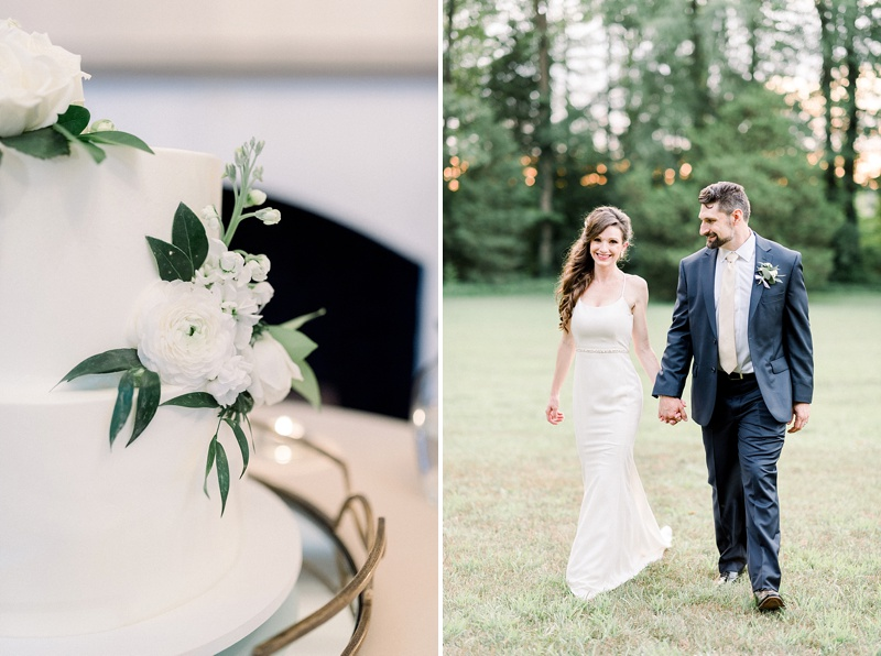 Romantic intimate microwedding at Seven Springs in Virginia during COVID times