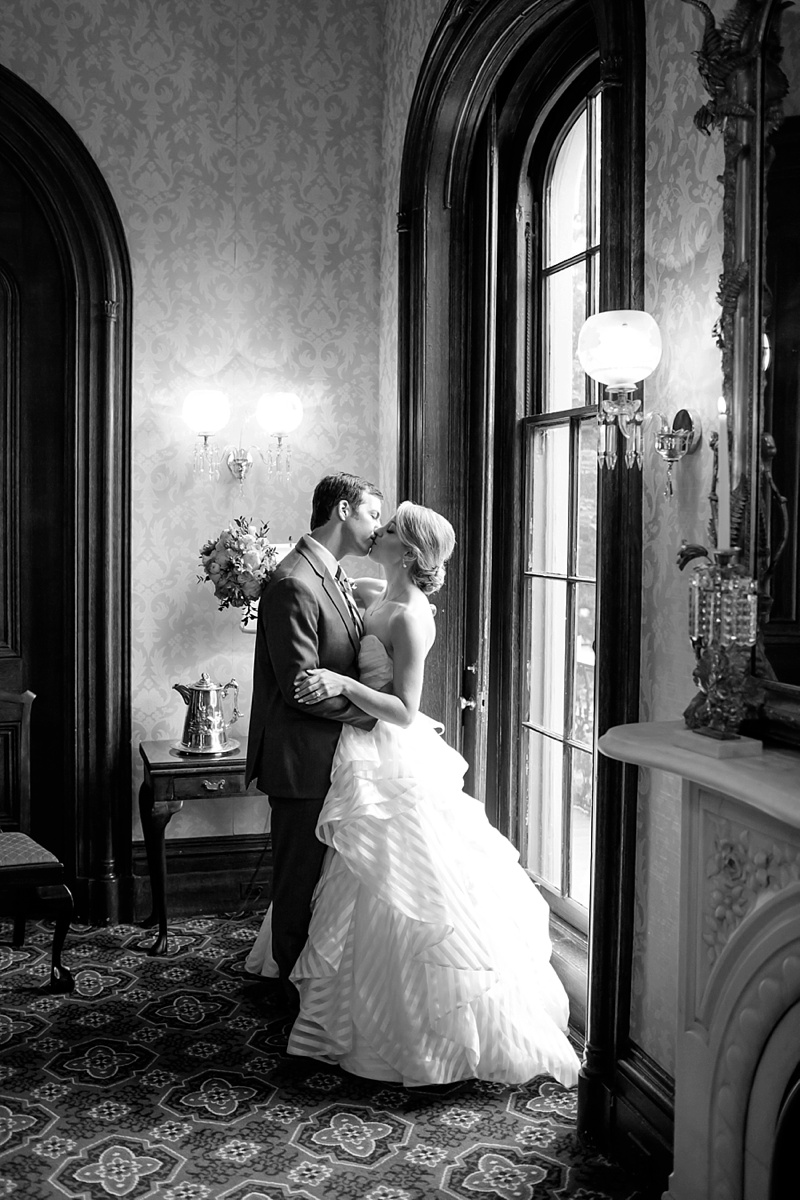 Beautiful bride and groom moment at Bolling Haxall House in Richmond Virginia