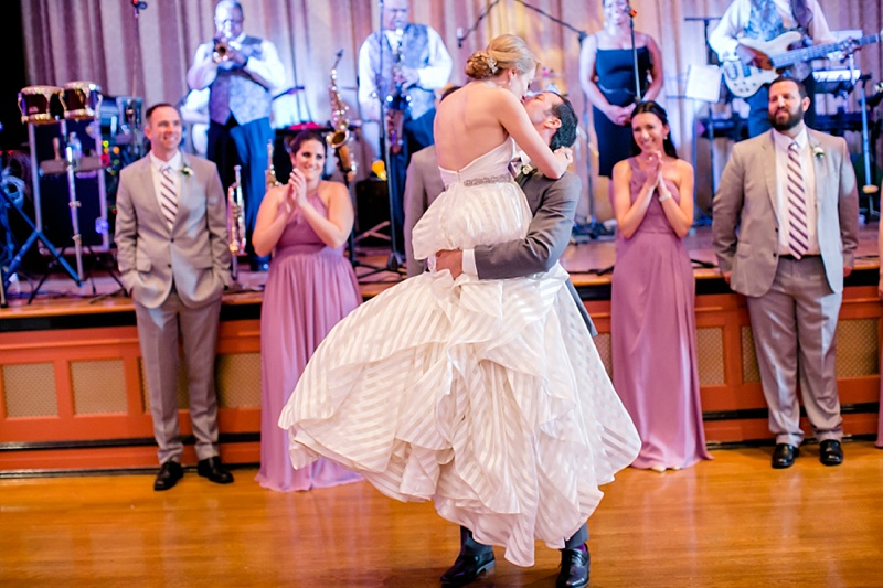 Preppy purple and white Jewish ballroom wedding at Bolling Haxall House in Richmond Virginia