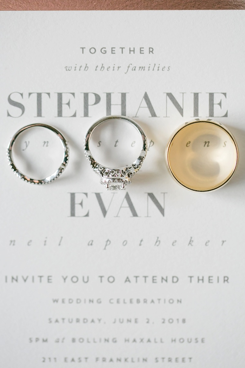 Preppy modern gray and white wedding invitation from Minted