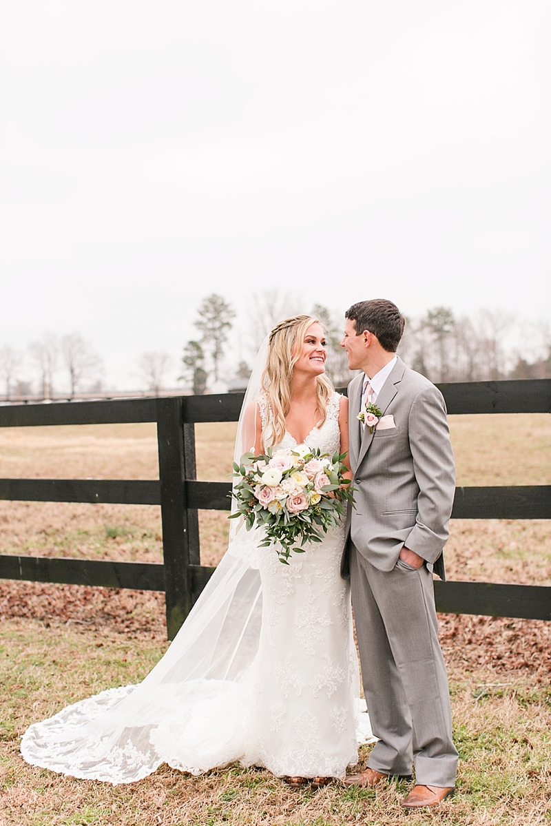 Classic rustic bride and groom at Alturia Farm in Virginia