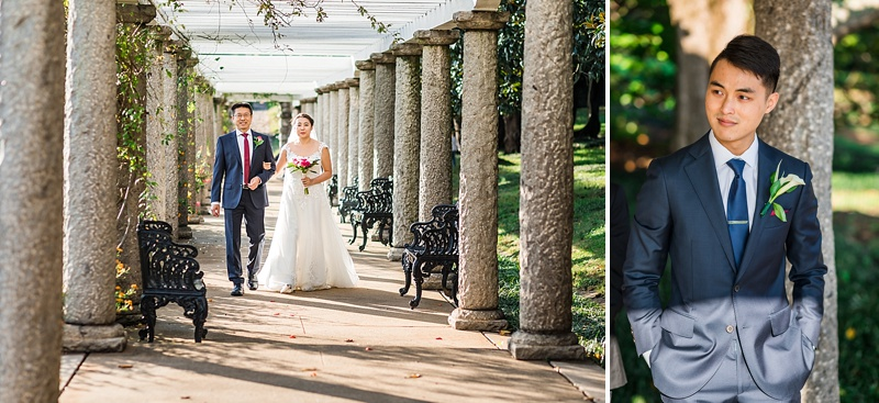 Western style Chinese wedding ceremony at Maymont in Richmond Virginia