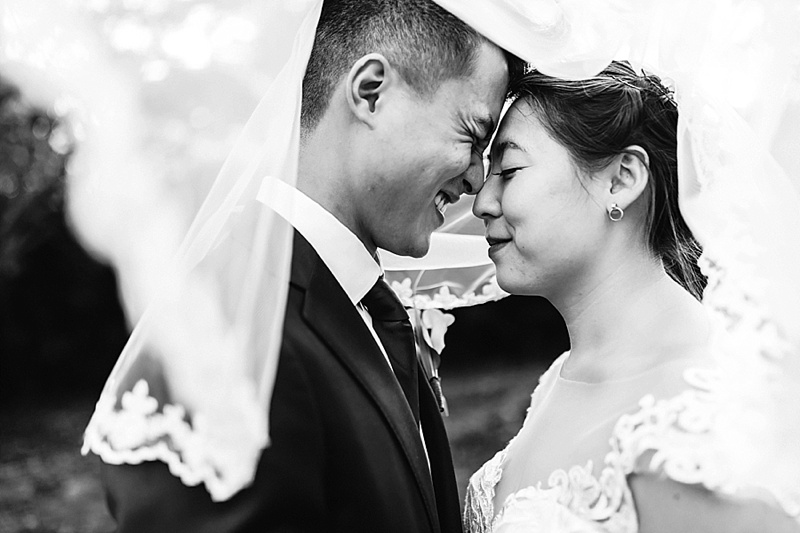 Intimate pandemic affected traditional Chinese tea wedding ceremony in Richmond Virginia