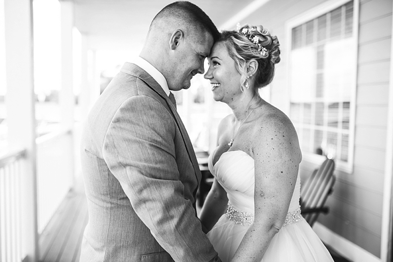 Happy bride and groom moment in Smithfield Virginia