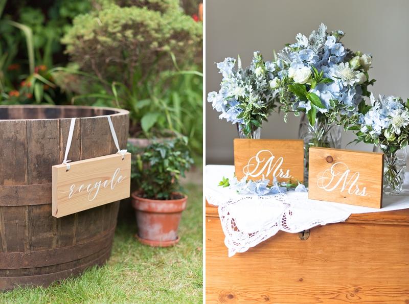 Elegant wood wedding signs for eco friendly weddings