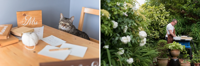 Adorable cat who really runs the show at High Oak and Co wedding signage business