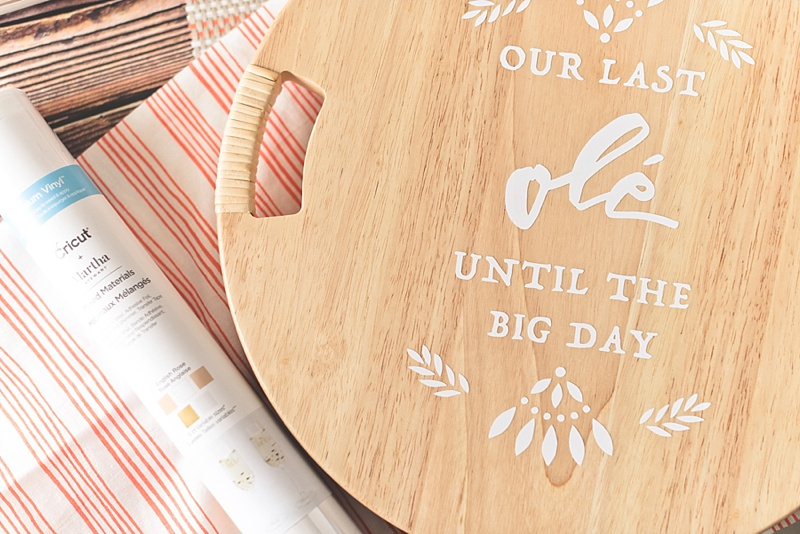 DIY wedding ideas with Cricut Vinyl