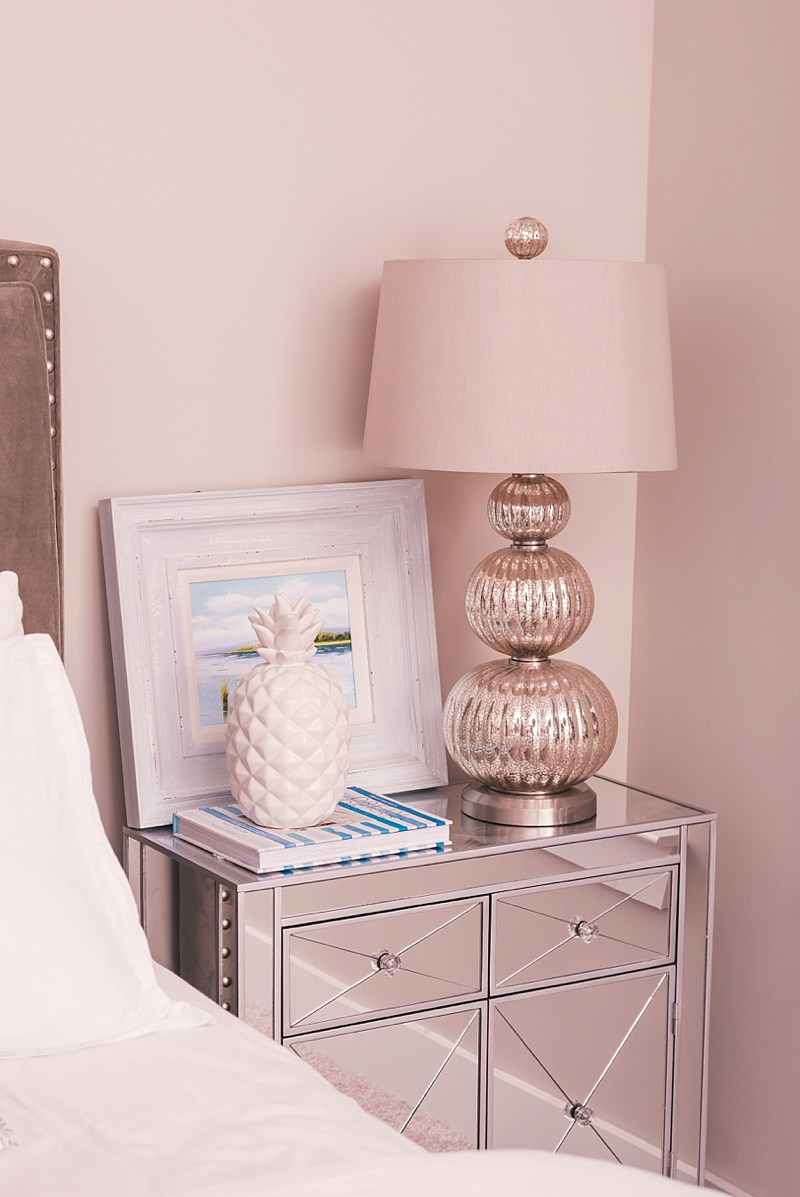 Chic pink home decor insured under Erie Insurance