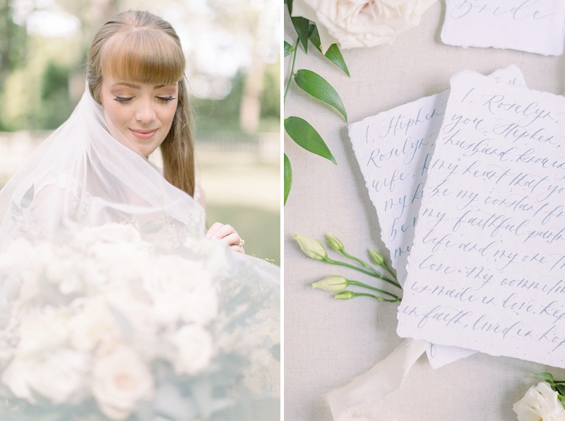 Timeless and natural bridal makeup for a classic garden wedding with a fine art style