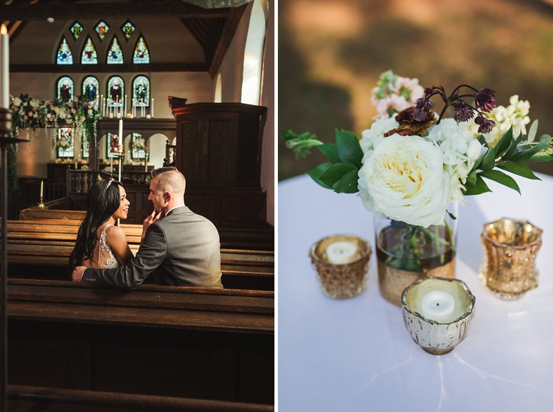 Classic rustic wedding flower ideas for celebrations at Historic St Lukes in Virginia