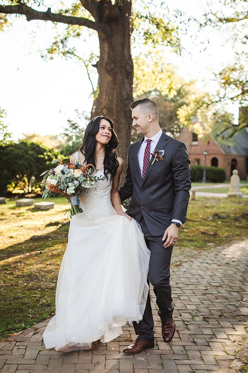 Beautiful classic wedding venue Historic St Lukes Church in Smithfield Virginia