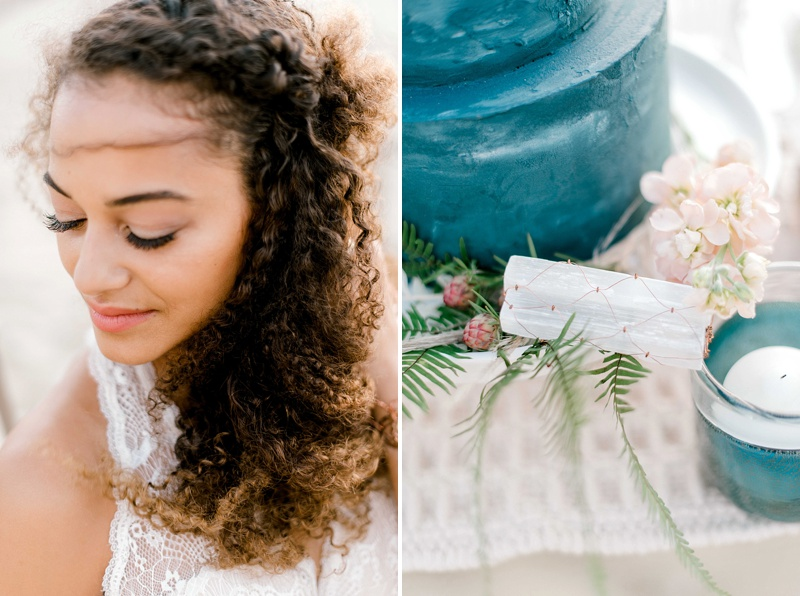 Timeless and natural bridal makeup for a boho chic wedding day look