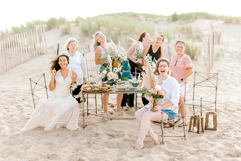 Wildly elegant beach boho wedding tablescape ideas with protea and pampas grass