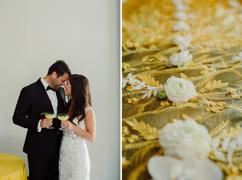 Removable mustard yellow wedding train with hand sewn real flowers