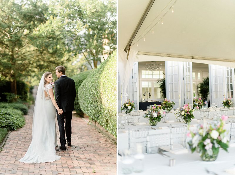Classic outdoor tented Cavalier Hotel wedding in Virginia Beach in Hampton Roads