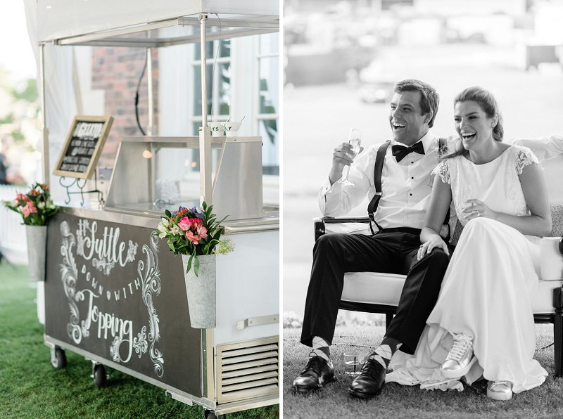 Chic and modern gelato cart for a yummy outdoor summer wedding treat in Virginia Beach