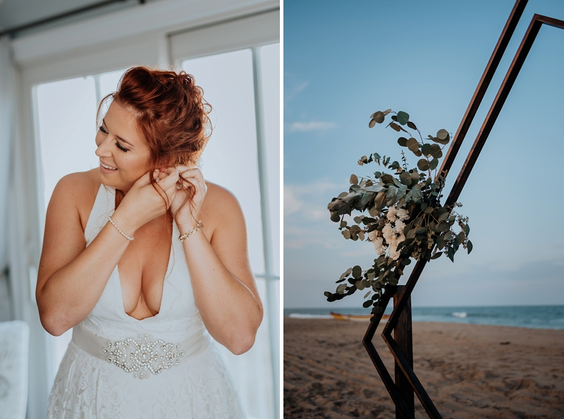 Simple modern beach wedding ideas from this LGBTQ wedding in Virginia Beach
