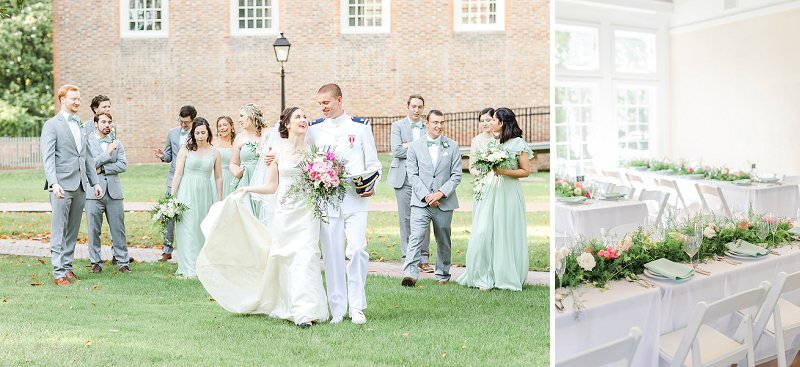 Simple and classic military wedding at Williamsburg Community Building in Virginia for summer wedding venue ideas